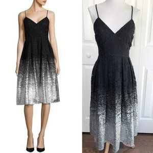 Design Lab Lord & Taylor Womens Lace Dress Black
